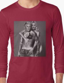 Justin Bieber Calvin Klein Parody - Ellen & Portia Long Sleeve T-Shirt