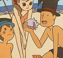 Layton and friends at the beach by marishop