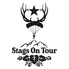 Stags On Tour - Stag Do - Skydiving T-Shirt by springwoodbooks