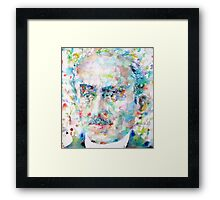 HENRI BERGSON - watercolor portrait Framed Print