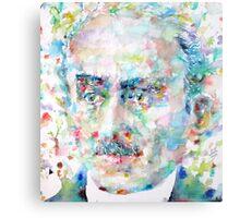 HENRI BERGSON - watercolor portrait Metal Print