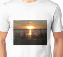 Sunset Through The Water Grass Unisex T-Shirt