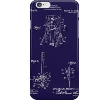 1916 Magician's Knife Throwing Illusion Patent Art iPhone Case/Skin