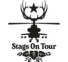 Stags On Tour - Stag Do - Helicopter T-Shirt by springwoodbooks