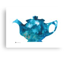 Teapot silhouette painting abstract wall decor Canvas Print