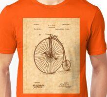 1885 Nye Velocipede Patent - Bicycle - High Wheel Unisex T-Shirt