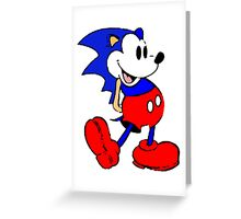 Sonic Mickey Mouse Greeting Card