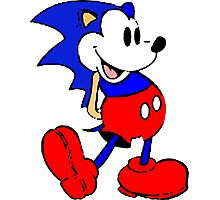 Sonic Mickey Mouse Photographic Print