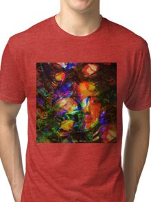 """"""" The beauty is the flower of the happiness. """" Tri-blend T-Shirt"""