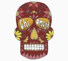 Chi Omega Sugar Skull by emmytyga
