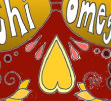 Chi Omega Sugar Skull Sticker