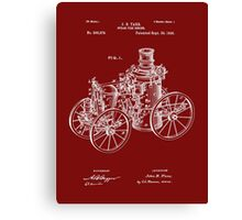 Fire Department - 1896 Tarr Steam Fire Engine Patent Canvas Print
