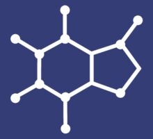 Caffeine Molecule Coffee Science Chemistry White by MetroBionic