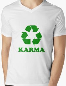 Karma Recycle Mens V-Neck T-Shirt
