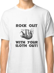 Rock Out Sloth Classic T-Shirt