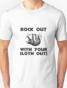 Rock Out Sloth Unisex T-Shirt