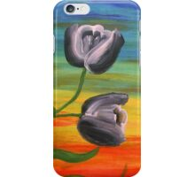 Toon Tulips at sunset iPhone Case/Skin