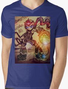 Dunk Master megaman Mens V-Neck T-Shirt
