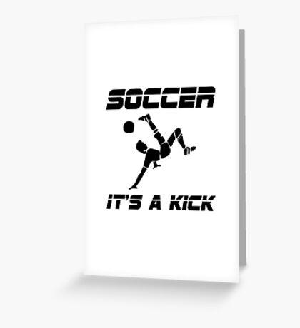 Soccer Kick Greeting Card