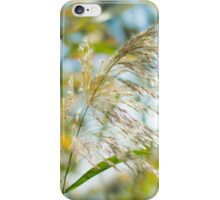flowering Cane closeup with pastel coloured background  iPhone Case/Skin