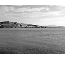 Island Caprera: sea landscape and military archeology Photographic Print