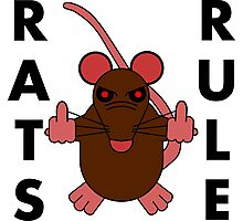 Rats Rule Photographic Print