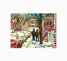 SNOW COVERED CARS ON MONTREAL STREETS Unisex T-Shirt
