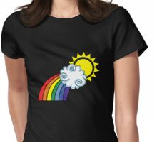 The Bright Side / Rainbow Womens Fitted T-Shirt