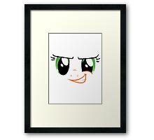 Applejack - Face Framed Print