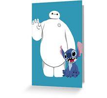 Baymax and Stitch Greeting Card
