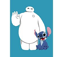 Baymax and Stitch Photographic Print