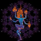 Harmonic waves - Psychedelic Shiva-like dancer by Andrei Verner
