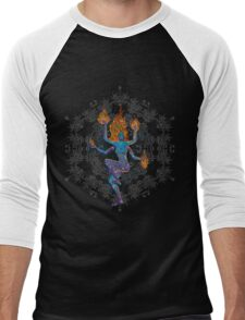 Harmonic waves - Psychedelic Shiva-like dancer Men's Baseball ¾ T-Shirt