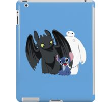 Toothless,Stitch and Baymax iPad Case/Skin