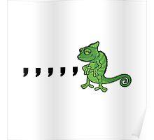 Comma Chameleon Poster