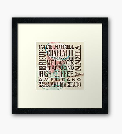 Coffee of the Day 1 Cream Framed Print