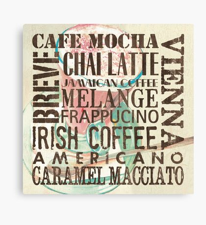 Coffee of the Day 1 Cream Canvas Print