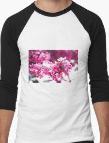 Pink Tree Blossom Men's Baseball ¾ T-Shirt
