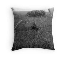 Black and White Web Throw Pillow