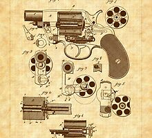 1881 Mason Revolver Firearm Patent - Gun - Revolver by Barry  Jones