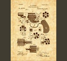 1881 Mason Revolver Firearm Patent - Gun - Revolver Unisex T-Shirt