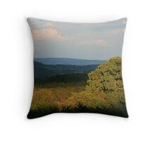 Leafy landscape Throw Pillow