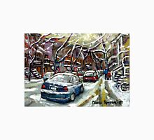 SNOWY JANUARY DAY IN MONTREAL SNOWED IN CARS Unisex T-Shirt