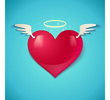 heart with wings Photographic Print