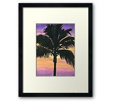 Flagler Beach Palm Tree Framed Print