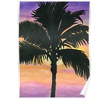 Flagler Beach Palm Tree Poster