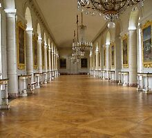 Hall of Mirrors in Versailles, Paris by chord0
