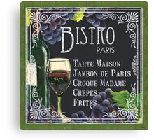 Bistro Paris Canvas Print