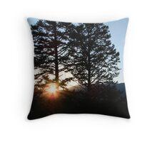 Sunset in Montana Throw Pillow