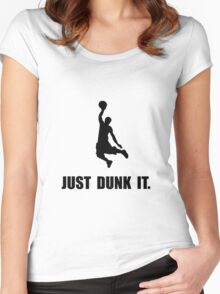 Just Dunk It Women's Fitted Scoop T-Shirt
